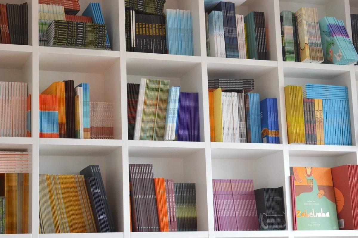 books, bookcase, organization